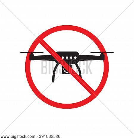 No Drone Zone Sign Flights With Drone Prohibited Ban Stop Sign Vector Illustration For Graphic Desig