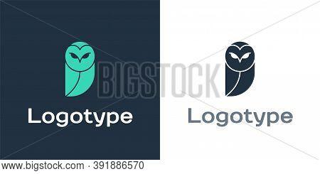 Logotype Owl Icon Isolated On White Background. Animal Symbol. Logo Design Template Element. Vector