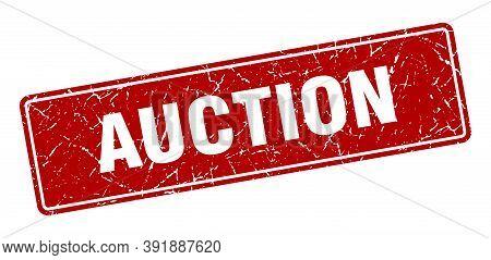 Auction Stamp. Auction Vintage Red Label. Sign