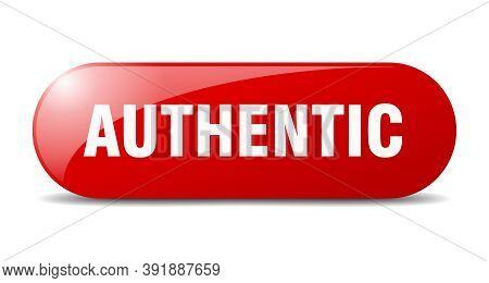 Authentic Button. Authentic Sign. Key. Push Button.