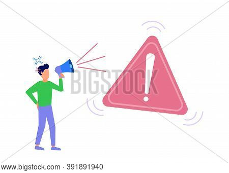Vector Illustration Of A Business Concept, Disconnected From The Internet, Unavailable, Network User