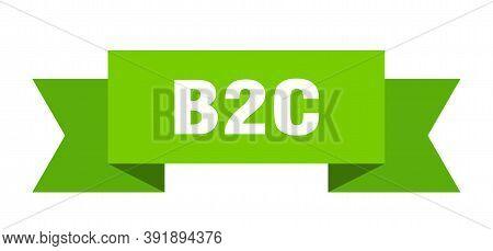 B2c Ribbon. B2c Paper Band Banner Sign