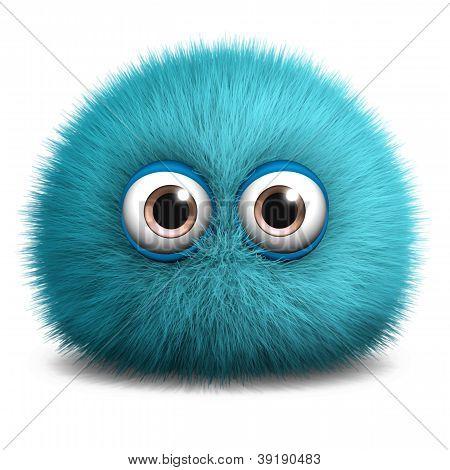 Peludo monstro azul