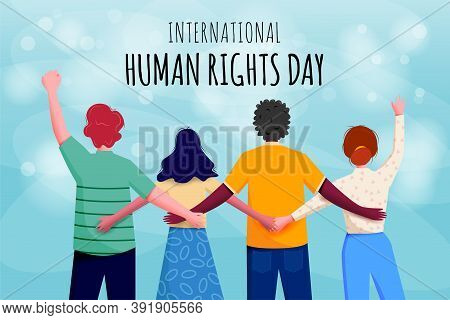 International Human Rights Day Banner Vector Ilustration