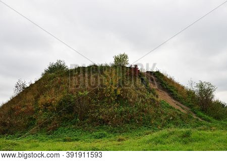 Burial Mound Of Legendary Oleg Of Novgorod On Volkhov River Near Staraya Ladoga Village The First Ca