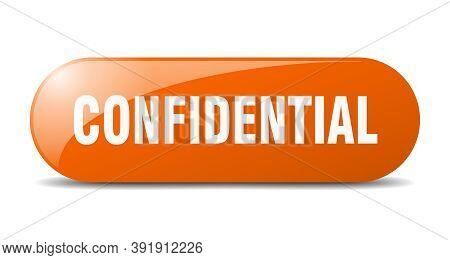 Confidential Button. Confidential Sign. Key. Push Button.