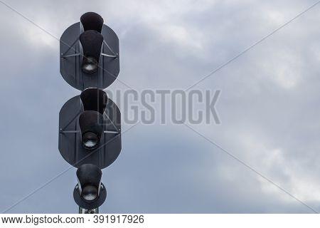 Traffic Light To Regulate Railway Traffic.traffic Light To Regulate Railway Traffic.