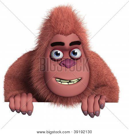 3 d cartoon cute red beast monster poster