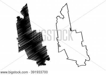 Franklin County, Maine (u.s. County, United States Of America, Usa, U.s., Us) Map Vector Illustratio