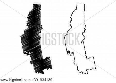Somerset County, Maine (u.s. County, United States Of America, Usa, U.s., Us) Map Vector Illustratio