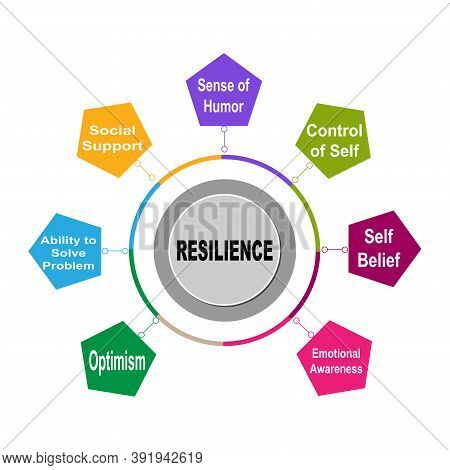 Diagram Of Resilience With Keywords. Eps 10 - Isolated On White Background