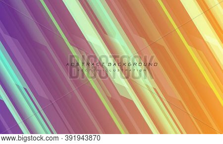 Abstract Pink Orange Line Cyber Circuit Slash And Black Text Design Modern Futuristic Technology Bac