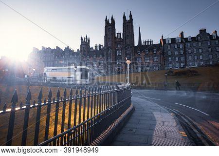 road and University of Edinburgh, Scotland, UK