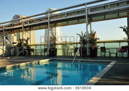 Sunny Rooftop Pool
