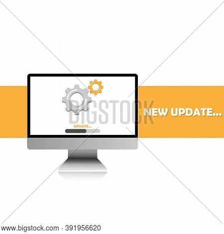 Updating The System Software On The Computer, Updating Data, Or Synchronizing With The Progress Bar