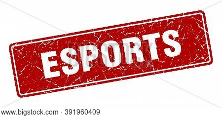 Esports Stamp. Esports Vintage Red Label. Sign