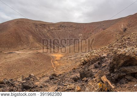 Trial On The Fuerteventura Nature Trail Gr 131 From Corralejo To Morro Jable In Summer 2020.