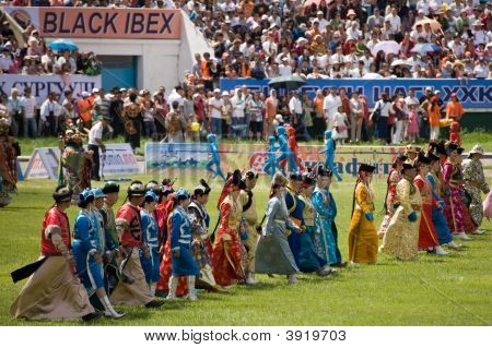 Parade Of Traditional Mongolian Costumes