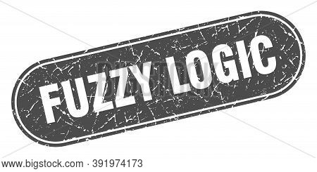 Fuzzy Logic Sign. Fuzzy Logic Grunge Black Stamp. Label