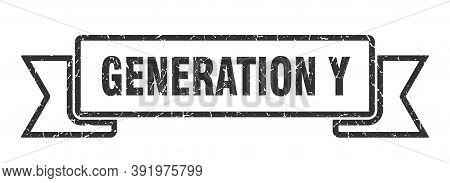 Generation Y Ribbon. Generation Y Grunge Band Sign. Generation Y Banner