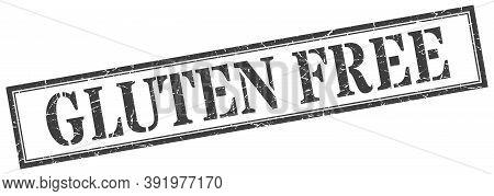 Gluten Free Stamp. Gluten Free Square Grunge Sign. Gluten Free