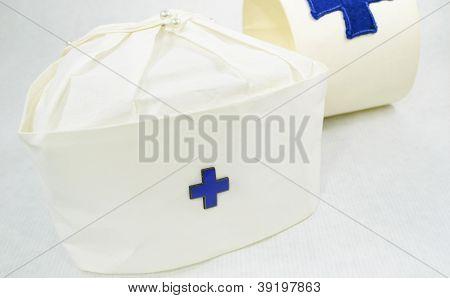 Nurse Cap And Arm Band Vintage