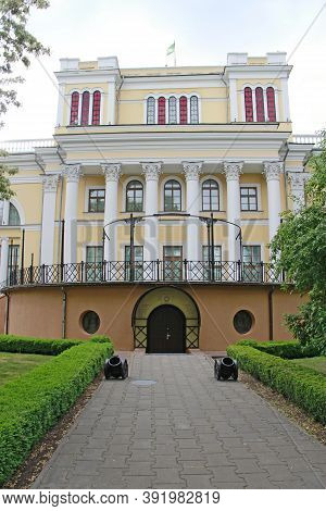 Gomel / Belarus - May 20, 2018 :  The Rumyantsev-paskevich Residence In Gomel Front View. Palace Of