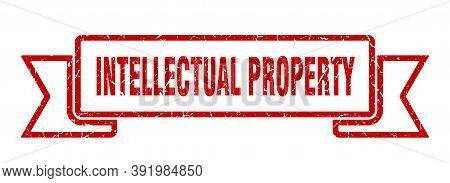 Intellectual Property Grunge Vintage Retro Band. Intellectual Property Ribbon