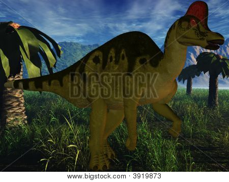 3 D Render of an Corythosaurus - Dinosaur poster