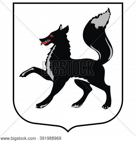 Coat Of Arms Of Salekhard In Yamalo-nenets Autonomous Okrug Of Russian Federation