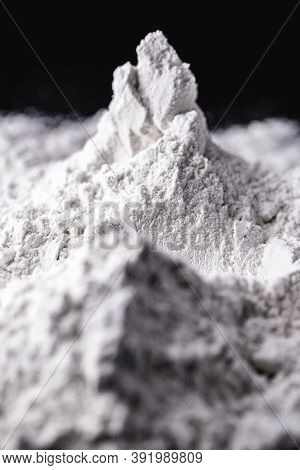 Titanium Dioxide (tio2) Powder For Cosmetics, Isolated Black Background