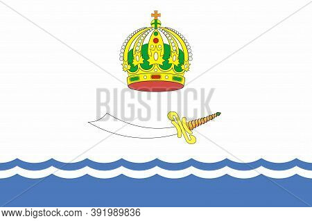 Flag Of Astrakhan Oblast In Russian Federation