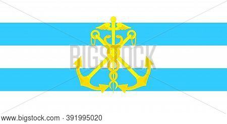 Flag Of Taganrog In Russia