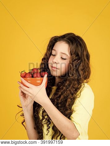 Child Eating Strawberry. Dessert Sweet Food. Buy Red Berry. My Summer Pleasure. Girl Eating Homegrow