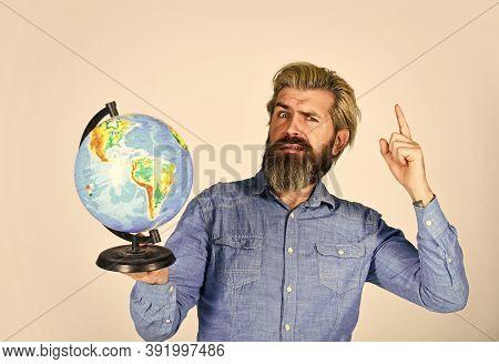 Geography Teacher. International Business. Global Network. Worldwide Shipping. Travel By Air. Around