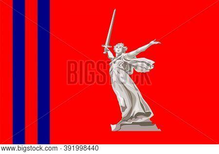 Flag Of Volgograd Oblast Of Russia