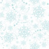 Light blue snowflakes winter pattern that will tile seamlessly poster
