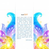 Shining flowers vector background brochure template. This is file of EPS10 format. poster