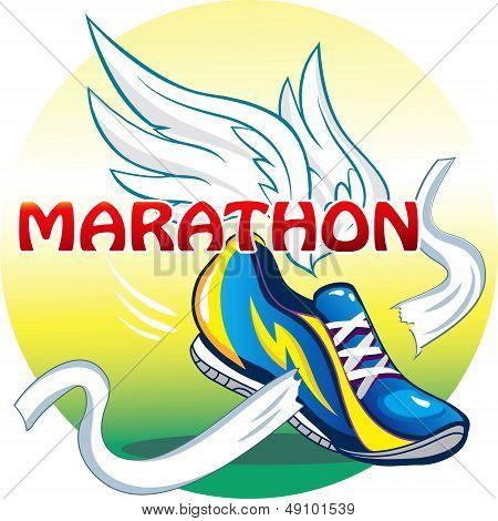 The emblem of the marathon