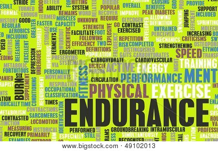 Endurance Training and Mental Strength as Concept poster
