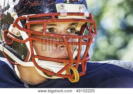 Portrait Of A American Football Player