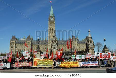 Tamil Demontstration Parliament Hll Ottawa