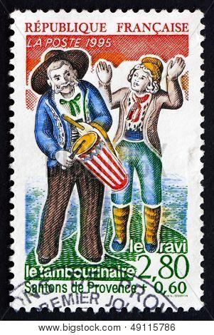 Postage Stamp France 1995 Provencal Nativity Figures