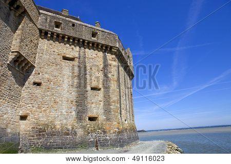 mont saint michel view to the ocean, france