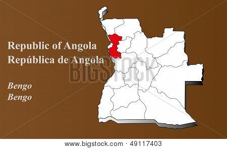 Angola - Bengo Highlighted