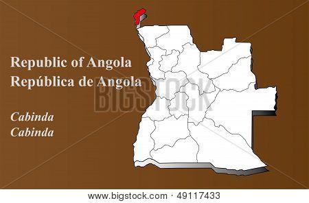Angola - Cabinda Highlighted