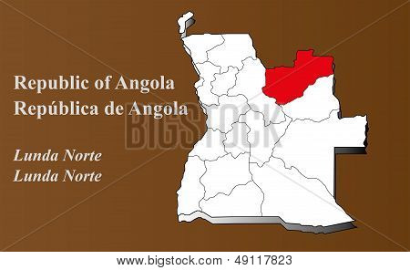 Angola - Lunda Norte Highlighted