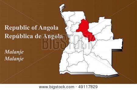 Angola - Malanje Highlighted