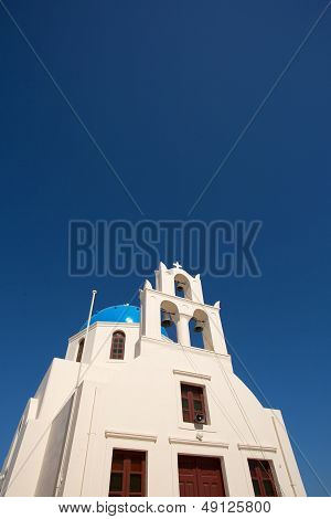 18Th Century Church And Its Distinctive Blue Domed Bell Tower