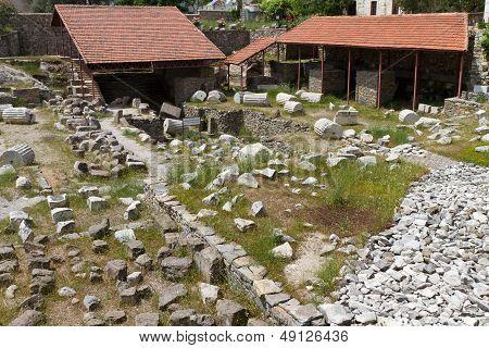 Ruisn of Mausoleum at Halicarnassus Bodrum, Turkey poster